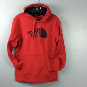 North Face Mens Red 100% Poly Hoodie Sz S